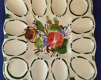 Square Deviled Egg Plate--Italy