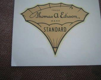 Edison Record Players  Vintage Standard Decal