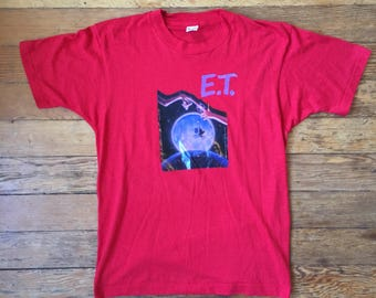 1982 E.T. Extra Terrestrial ET Film Shirt Photo Litho Transfer Shirt