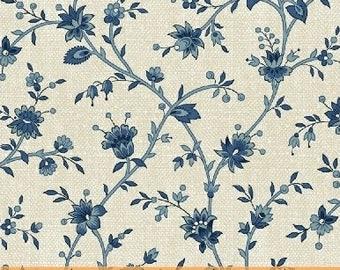 Floral Vine (Cream) - Chambray Rose - Nancy Gere - Windham Fabrics - 1 Yard