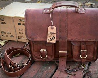 Leather Messenger Bag / Leather Briefcase Men's Leather Messenger Bag Mens Leather Briefcase / Leather Saddlebag, Bags for Men, Leather Bag