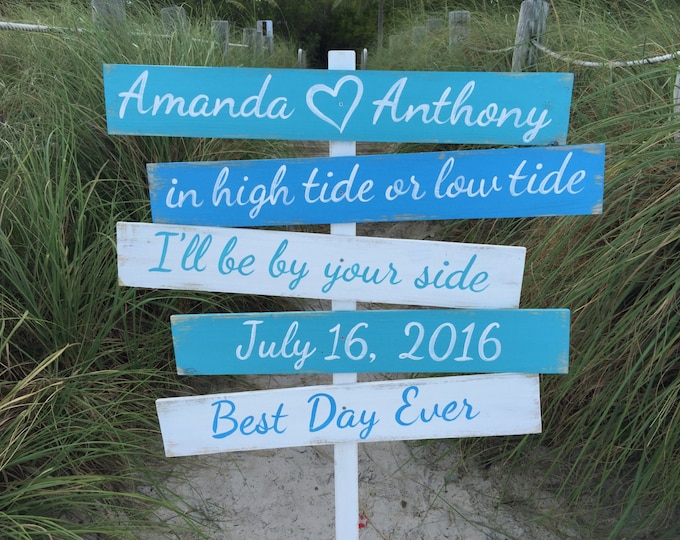 Best day ever beach wooden sign. Gift for Couple signage for wedding. Nautical Wedding Wood Decor
