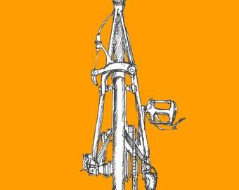 Ink Sketch of a Road Bike