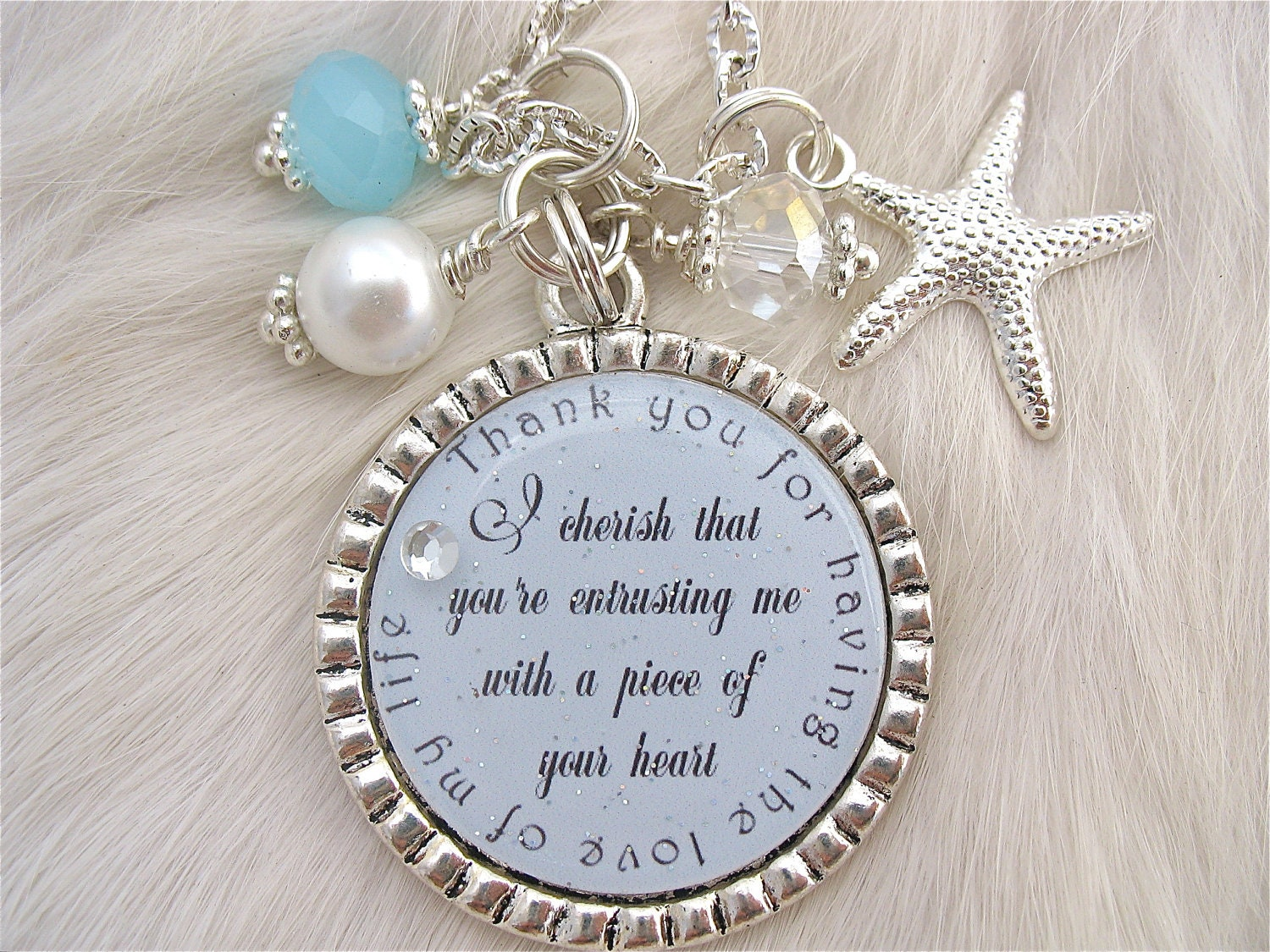 MOTHER of the Groom Gift Wedding Jewelry Inspirational quote