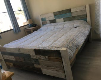 King Size Bed-frame, Hand Crafted headboard/footboard, Unique Bed, all sizes available, BF/#1