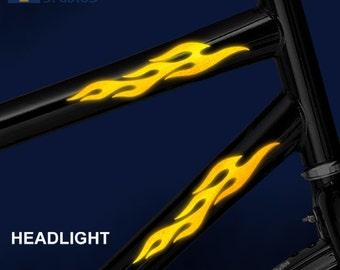 Reflective speed stripes full helmet motorcycle helmet decal kit