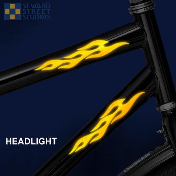 Flames Reflective Decal Set Flame Helmet Stickers Fire - Custom reflective fire helmet decals
