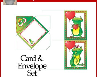 Frog Love Card Set Printable Valentine