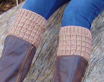 Knitting PATTERN Boot Cuffs Easy Boot Tops Knitting Pattern Beginner Knit Boot Toppers Photo Tutorial Instant Digital Download PDF