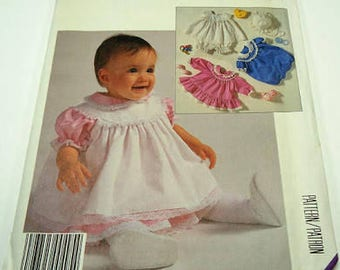 McCall's Pattern 2797 - Infant's Dress, Pinafore or Sundress, Panties, Romper and Hat