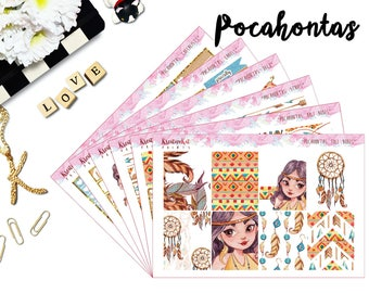 Pocahontas | Weekly Kit | Weekly Spread | Planner Stickers | Full boxes | Checklists | Deco | Happy Planner | Mambi | Erin Condren