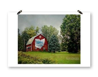 Ohio Bicentennial Barn, Fine Art Photography, Barn Photography, Old Barns, Ohio Photography, Rural Ohio, Rural Photography, Red Barn