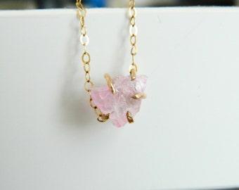 Rose Quartz Necklace, Crystal Neckace, 14K Gold, Rose Quartz Pendant, Amethyst Stone, Aquamarine Stone, Citrine Stone, Sapphire Stone