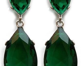 Angelina Jolie Inspired Emerald Earrings
