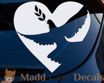 Dove Olive Branch Christian Decal Car Laptop Graphic Sticker Window