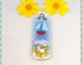 Fused Glass Suncatcher, Glass Light Catcher, Fused Glass Art, Glass Art, Fused Glass, Fused Glass Wall Art, Suncatcher, Minerva Hot Glass