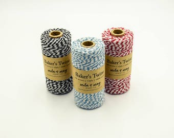 Bakers Twine 100m Spool 12ply (approx 109 yards) CHOOSE YOUR COLOUR Mix & Match - Cotton Baker's Twine