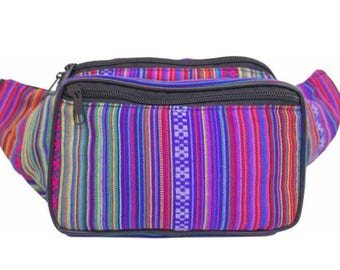 Woven Rose Fanny Pack