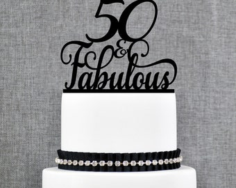 40 and Fabulous Birthday Cake Topper 40th Birthday Topper