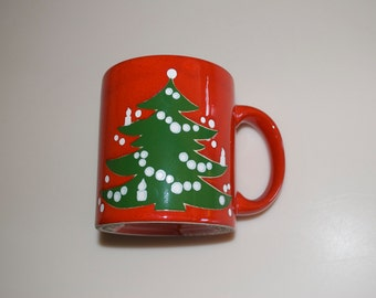 Choose One or More: Christmas Tree Coffee Mug Cup by Waechtersbach Germany Red