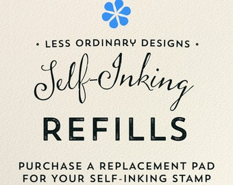 Self Inking Stamp refill - replacement ink pad for my self-inking stamps