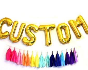 Gold Letter Balloons - Mylar CUSTOM Letter Balloon - Choose Your Letter - Oh Baby Balloon - Birthday Party Decor - Small Balloon Letters