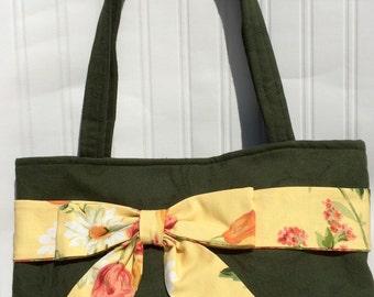 SALE! Handmade handbag with Bow, handbag, ladies bag, shoulder bag, gifts for her