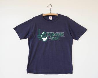 Free Shipping! 1980s Softball T-shirt Size M, Foraker Bart Shirt, Jerzees Shirt, 1980s T-shirt, Sport Tee, Vintage T-shirt, Graphic Tee
