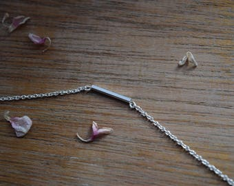 Pure Sterling Silver Bar Necklace