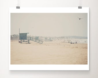 SALE California beach photography, Santa Monica photograph, pacific ocean photograph, california photograph, bird photograph