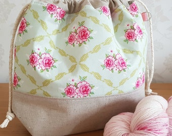 Tilda Project Bag - Perfect for Knitting and Crochet Projects!