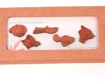 Koa Wood Magnets