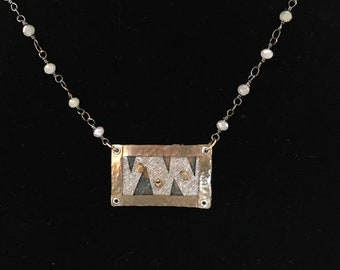 Mixed Metal Collage Pendant