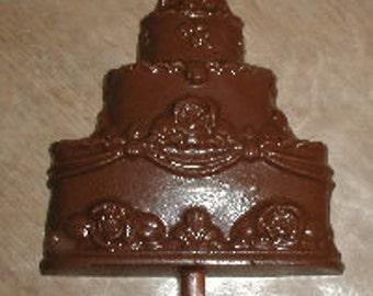 Wedding Cake Lolly Chocolate Mold