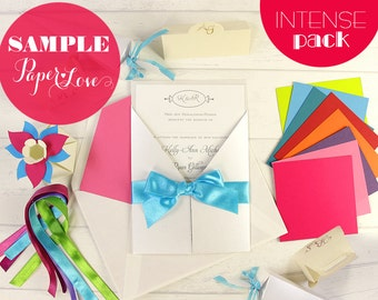 Wedding Invitation Sample Pack - Intense Colors - Paper Love Cards