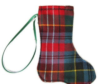 Caledonia Tartan Mini-stocking Christmas tree decoration