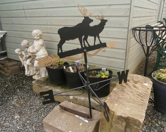 Metal Weathervane Decorated with stags,C1980s, Vintage.