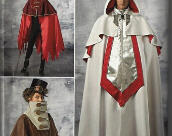 Simplicity #1040~ADULT  COSTUME~Simplicity Misses' and Men's Cape Costumes ~ Sz Xsm-Xlg(30-48)~New Uncut Factory Folded