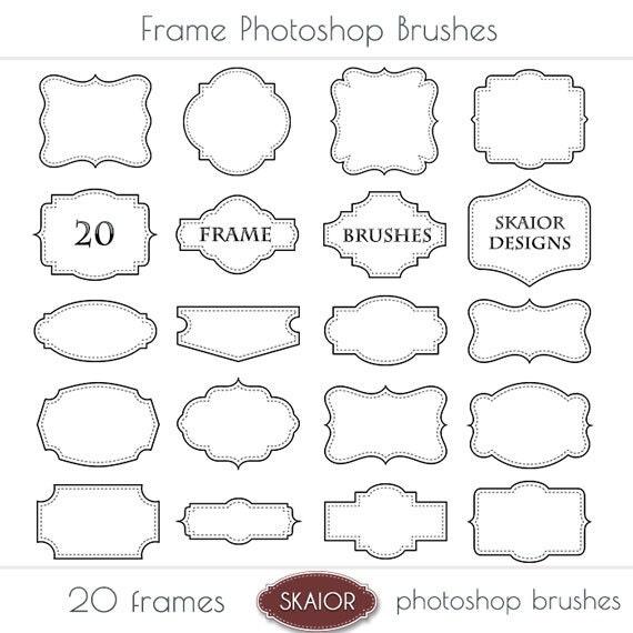 Frame Photoshop Brushes Square