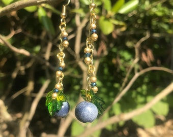 Blueberry Fruit Earrings