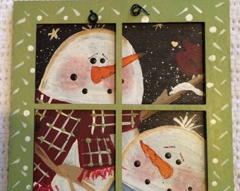 Window snowmam ornament