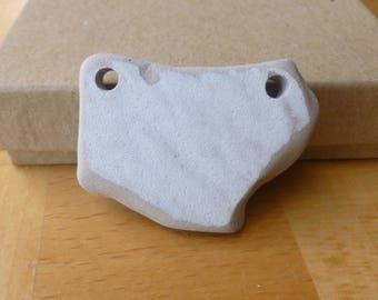 Tile Pendant - Tumbled Ceramic Pendant - Beach Glass Pendant - Beach Stone Penant - Ceramic Pendant - Irregular Pendant - Double Drilled