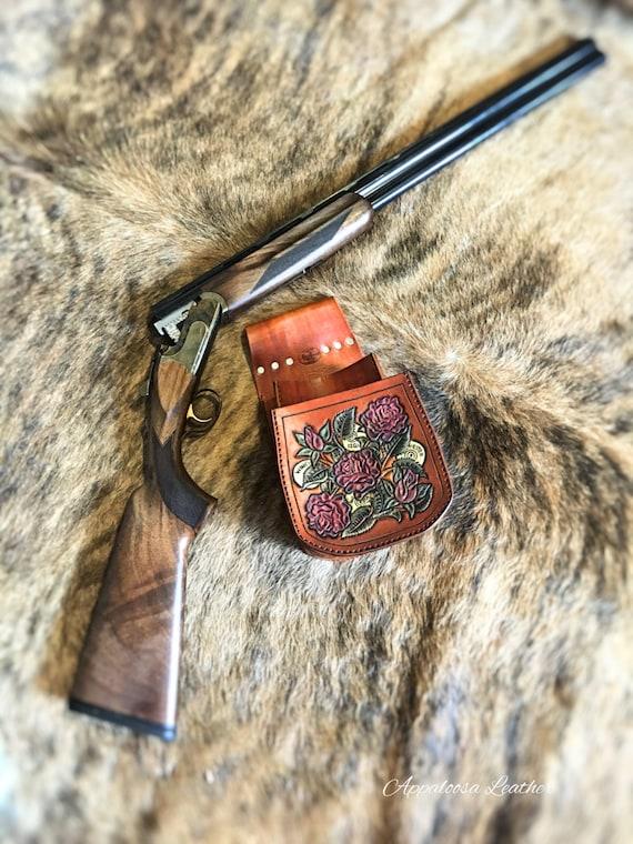 Leather Shooting Pouch Leather Shooting Bag Handmade Shell Bag