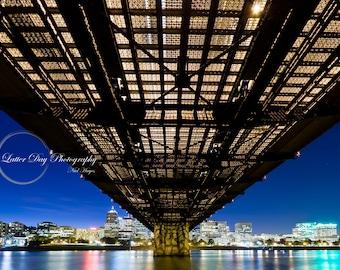Hawthorne Bridge, Portland Oregon- Fine Art Photography Print - Home Decor