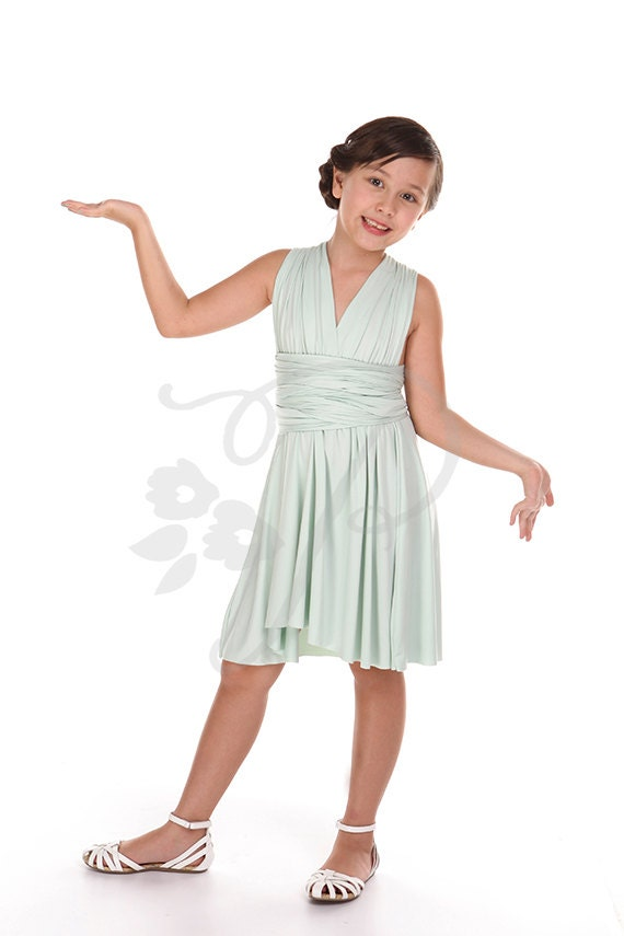Junior / Mini Brautjungfer Kleid Infinity Kleid Mint Cabrio