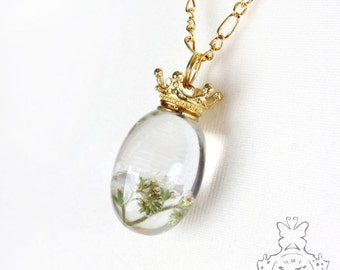 Forget me not necklace white