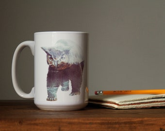 Owlbear Don't Care DnD Mug / Dungeons and Dragons, D&D Gift, RPG, Critical Role, Pathfinder, D20,  Fantasy Tea and Coffee Cup
