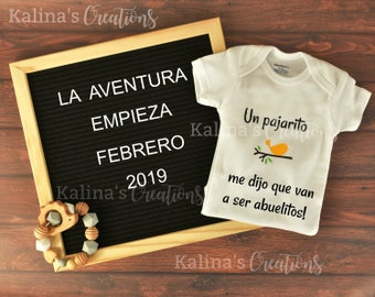 Spanish Digital Pregnancy Announcement