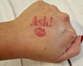 ASK! Stencil with Kiss | Kiss Stencil | Lip Stencil | LipSense