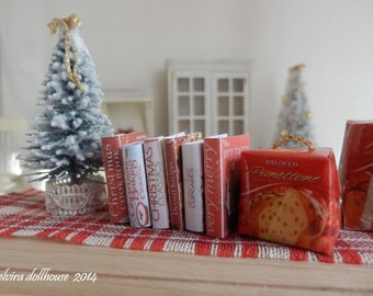 Christmas Recipes Books, Dollhouse Miniature,  1:12  Scale Dolls House